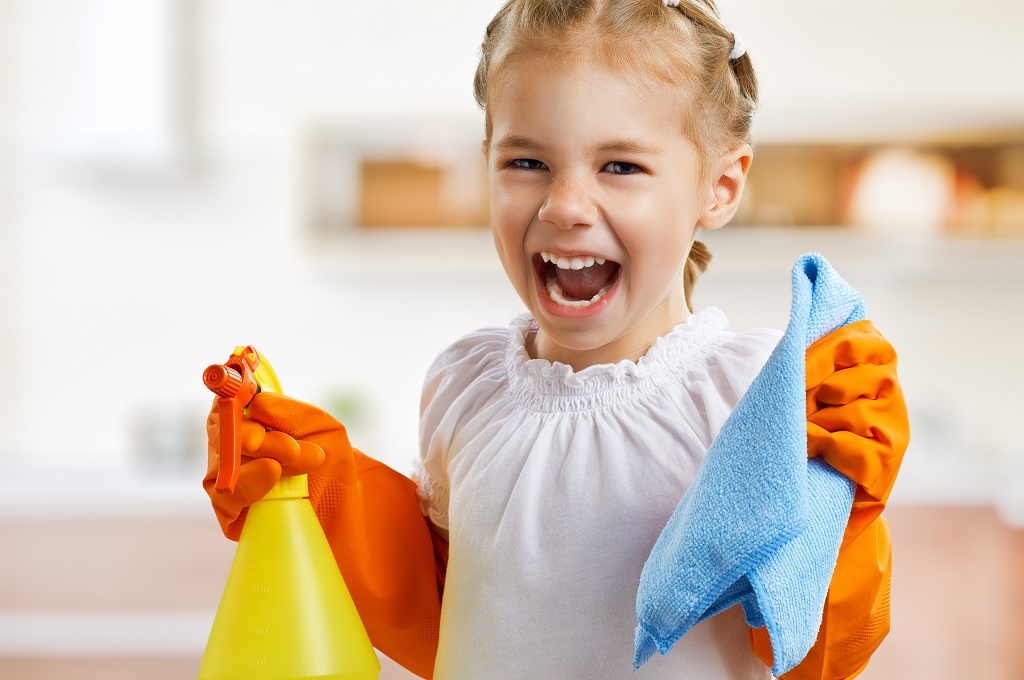 kid cleaning