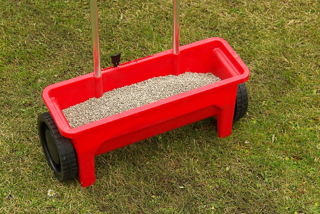 a fertilizer spreader