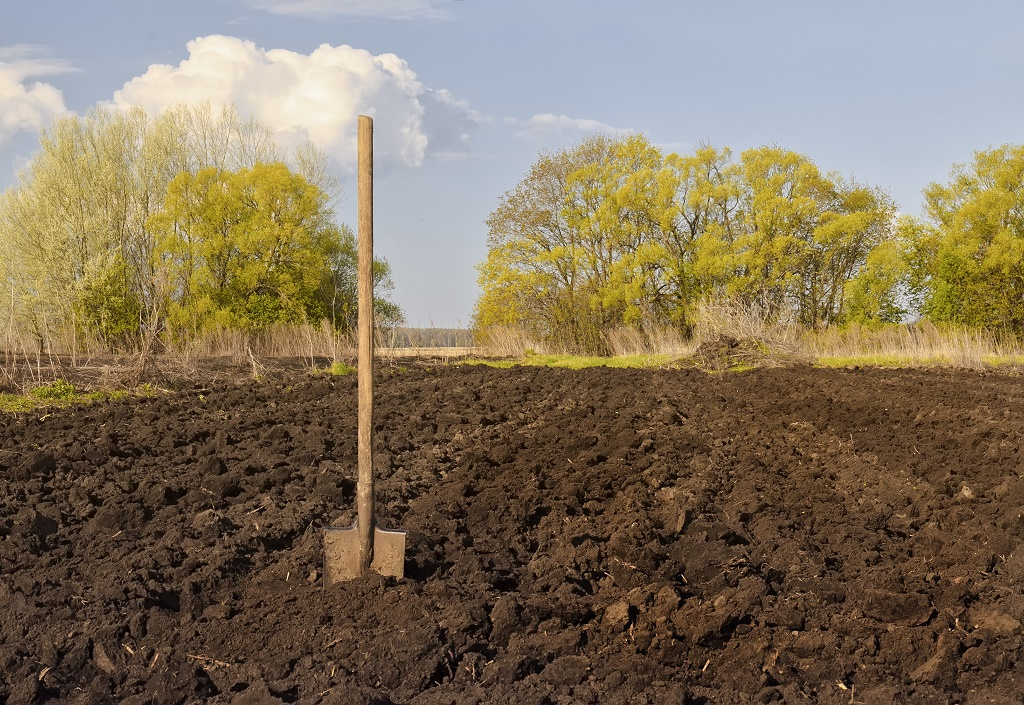 a shovel on farm
