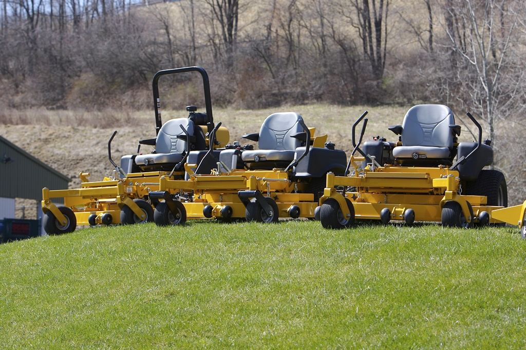 yellow mower