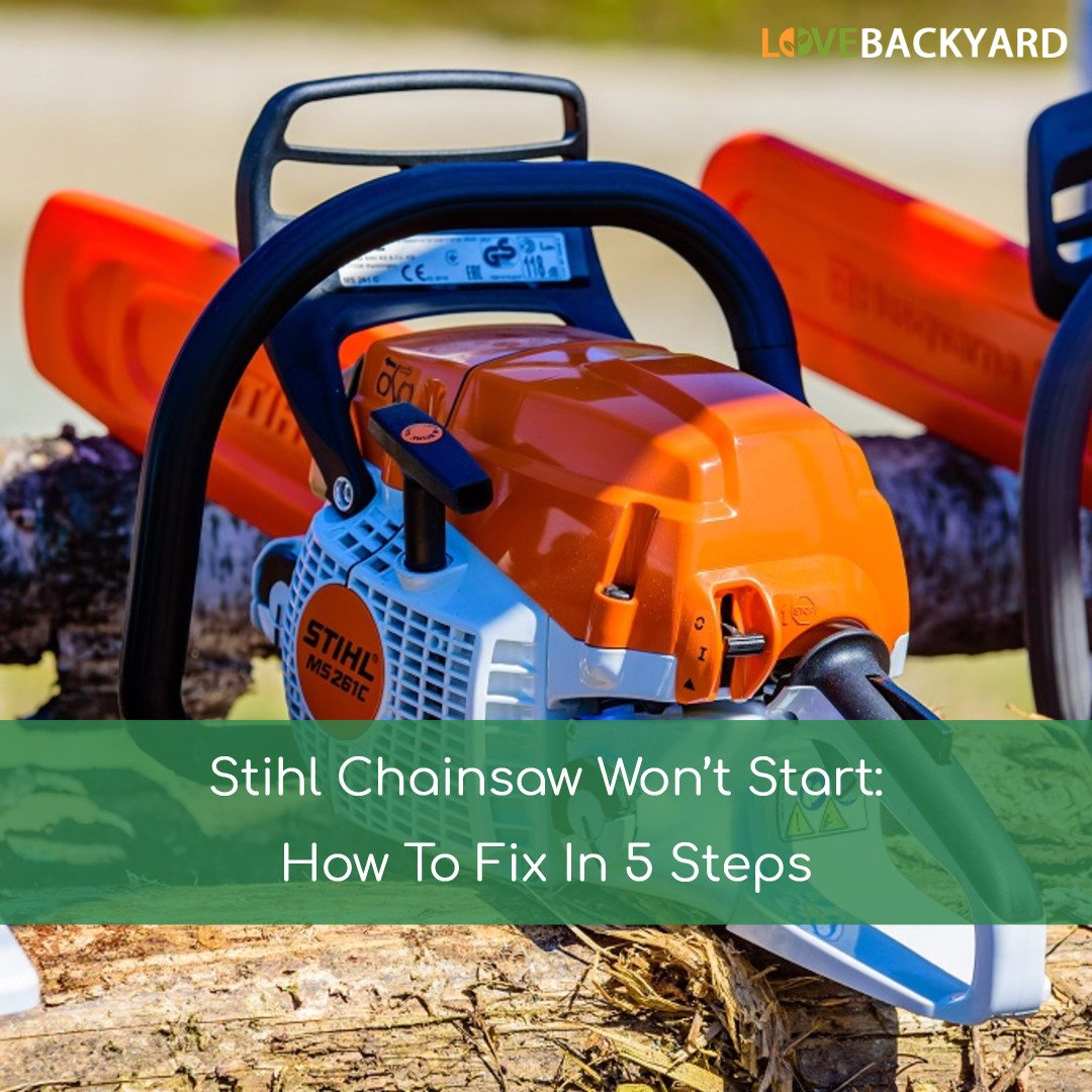 Stihl Chainsaw Won T Start How To Fix In 5 Steps Oct 2019