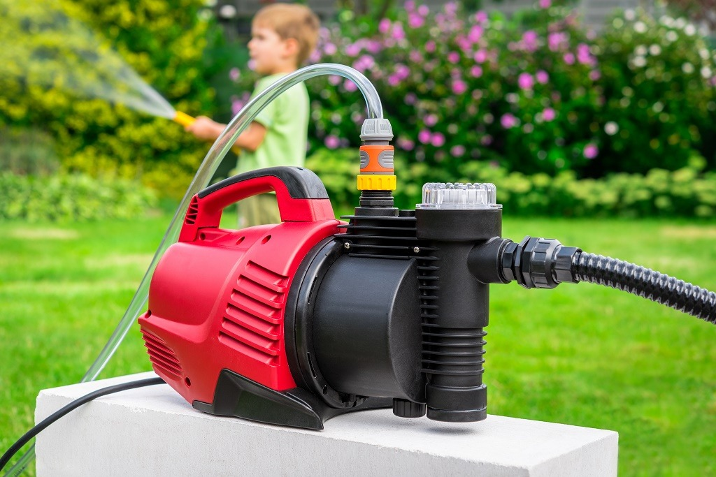 a red water pump