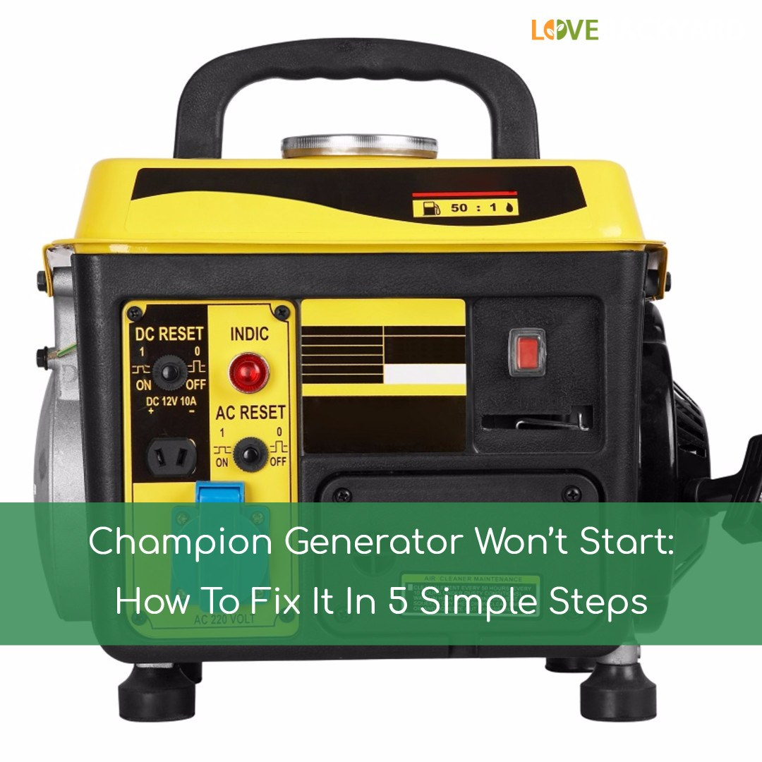 Champion Generator Wont Start How To Fix It In 5 Simple Steps Nov 4000 Watt Wiring 2018