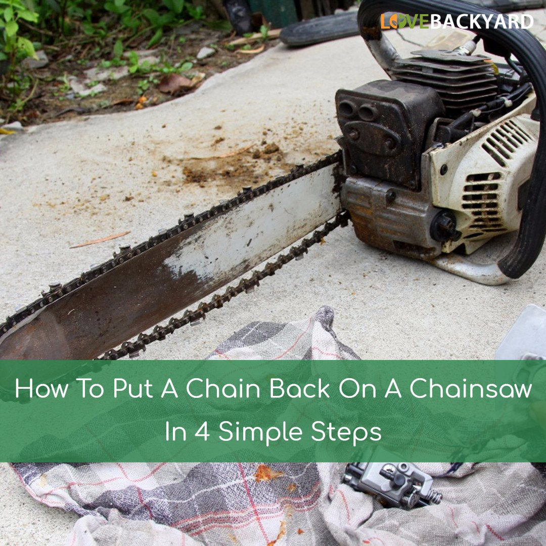 How to put a chain back on a chainsaw in 4 simple steps may 2018 keyboard keysfo