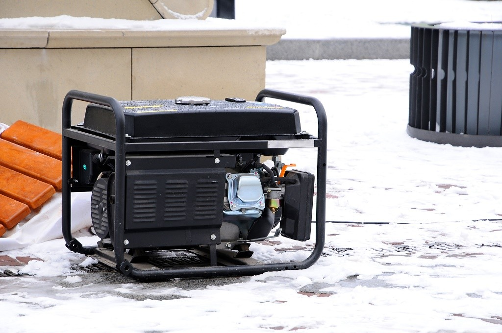 a generator in winter