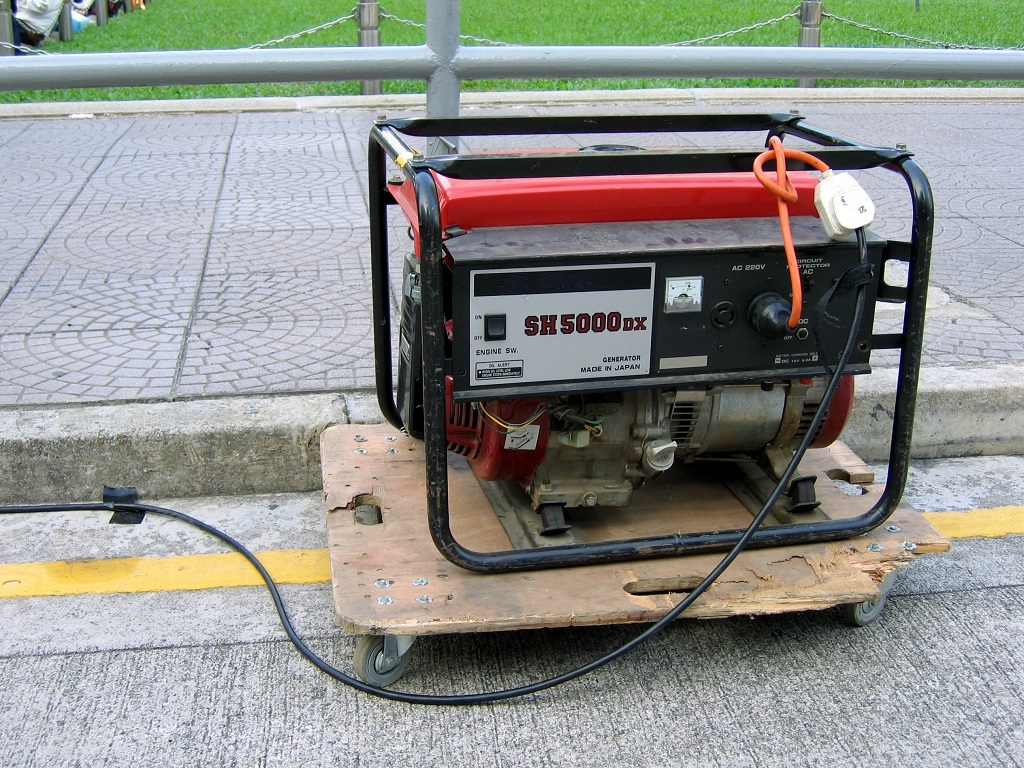 a generator on the street