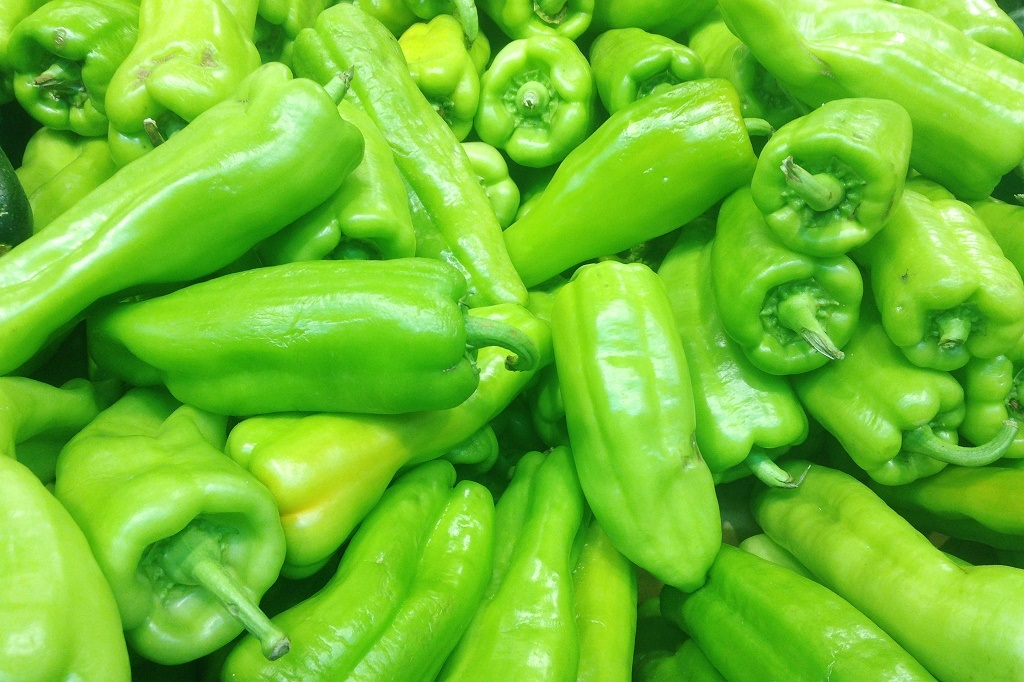 green serrano pepper background