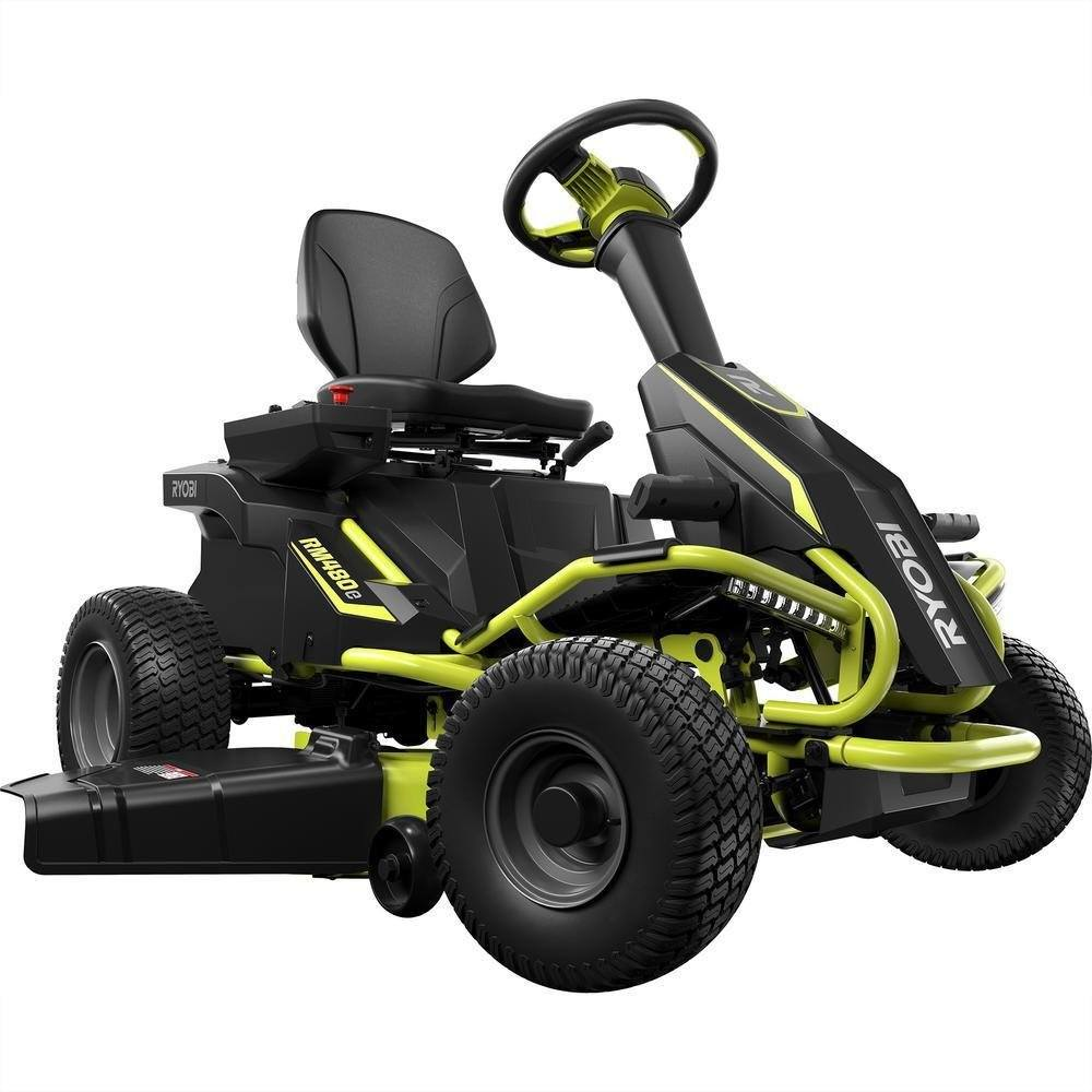 Ryobi 38-Inch Electric Rear Engine Riding Lawn Mower