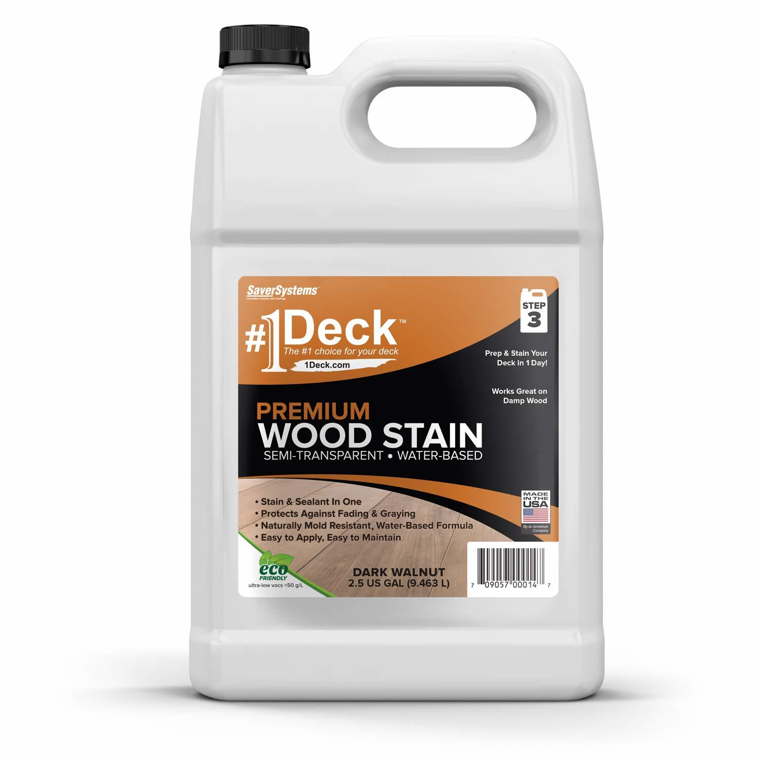 #1 Deck Stain - Premium Semi-Transparent Wood Stain for Decks